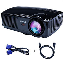 WiMiUS T4 Projector LCD Home Cinema Apoyo 1920